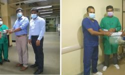 Donation of Low-Cost Reusable Face Shields to Fight Against COVID19